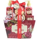 Brubaker Bade- und Dusch Set floraler Rosen- und Veilchen Duft 7-teiliges Geschenkset