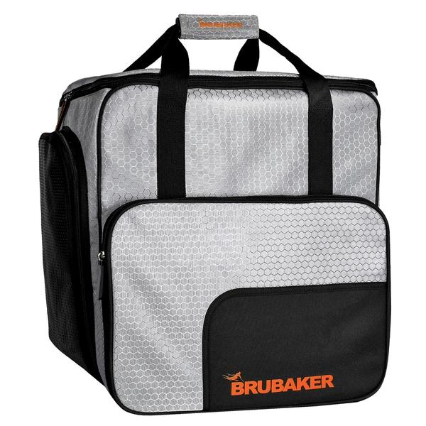 Brubaker SuperTec Skischuhtasche Helmtasche Rucksack mit Schuhfach Silber Orange