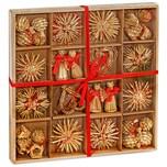 Brubaker 48-teiliges Set Weihnachtsbaumschmuck aus Stroh