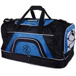Brubaker Medium Base XXL Sporttasche 52 L mit großem Nassfach als Bodenfach und Schuhfach Schwarz Blau