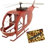 Brubaker Flaschenhalter Hubschrauber Deko-Objekt Metall mit Grußkarte