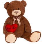 Brubaker XXL Teddybär 100 cm Dunkelbraun mit einem Best Mum Herz