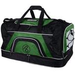 Brubaker Big Base XXL Sporttasche 90 L mit großem Nassfach als Bodenfach und Schuhfach Schwarz Grün