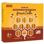 Brubaker 20er Pack Baumkerzen 10% Bienenwachs Weihnachtskerzen Pyramidenkerzen Honig-Gelb