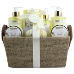 Brubaker Bade- und Dusch Set Vanille Rosen Minze Duft 9-teiliges Geschenkset in Henkelbox