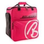 Brubaker Super Champion Skischuhtasche Helmtasche Skischuhrucksack Pink Weiß