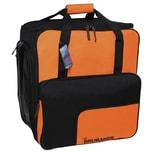Brubaker Super Function Skischuhtasche Helmtasche Rucksack mit Schuhfach Schwarz Orange