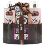 Brubaker Bade- und Dusch Set Kokosnuss und Erdbeer Duft 5-teiliges Geschenkset in Geschenkbox