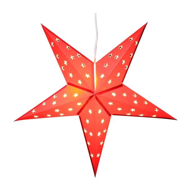 Brubaker LED Falt Weihnachtsstern Fotokarton 60 cm Ø Rot