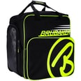 Brubaker Super Champion Skischuhtasche Helmtasche Rucksack mit Schuhfach Schwarz/Neon Gelb