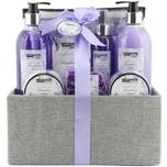 Brubaker Bade- und Dusch Set Lavendel Minze Duft 12-teiliges Geschenkset in dekorativer Jute-Box