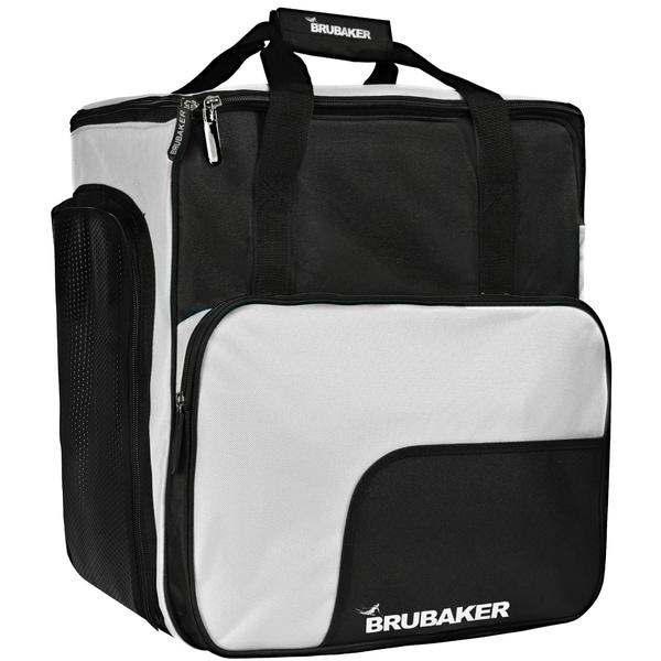 Brubaker Super Function Skischuhtasche Helmtasche Rucksack mit Schuhfach Schwarz Silber