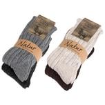 Brubaker 4 Paar warme Kaschmir Socken