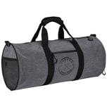Brubaker Duffel Bag Sporttasche 27 L 54 cm x 25 cm Ø Anthrazit Grau Melange/Schwarz