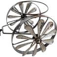 Brubaker Vintage Traktor Windspiel zum Bepflanzen aus Metall 23 x 29,5 x 43 cm wetterfest Silber