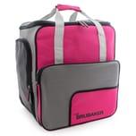 Brubaker Super Function Skischuhtasche Helmtasche Rucksack mit Schuhfach Pink Grau