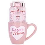 Brubaker Danke Mama 5-teiliges Muttertags Bade Set Rosen Vanille Duft in Tasse mit Herz Dekor