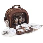 Brubaker Picknicktasche für 4 Personen Duffelbag Schultertasche mit Kühlfach