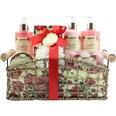 Brubaker Bade- und Dusch Set Pfingstrosen Blüten Duft 14-teiliges Geschenkset in dekorativem Korb