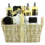 Brubaker Bade- und Dusch Set Vanille Rosen Minze Duft 14-teiliges Geschenkset in Henkelbox