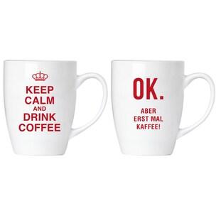 Brubaker Keep calm and drink coffee! Tassen Set mit Grußkarte in Geschenkpackung