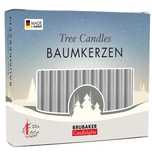 Brubaker 20er Pack Baumkerzen Wachs Weihnachtskerzen Pyramidenkerzen Silber
