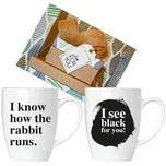 Brubaker I Know How The Rabbit.. I See Black.. Tassen Set mit Grußkarte in Geschenkpackung