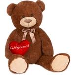 Brubaker XXL Teddybär 100 cm Dunkelbraun mit einem Lieblingsmensch Herz