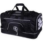 Brubaker Big Base XXL Sporttasche 90 L mit großem Nassfach als Bodenfach und Schuhfach Schwarz
