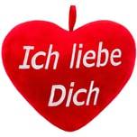 Brubaker Plüschkissen in Herzform Ich Liebe Dich Rot 32 cm