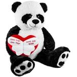 Brubaker XXL Panda 100cm mit Einen Engel ohne Flügel nennt man Mama Herz Stofftier