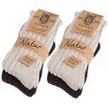 Brubaker 4 Paar 100% Alpaka Socken