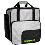 Brubaker SuperTec Skischuhtasche Helmtasche Rucksack mit Schuhfach Silber Grün