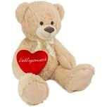 Brubaker XXL Teddybär 100 cm Beige mit einem Lieblingsmensch Herz