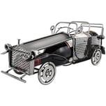 Brubaker Weinflaschenhalter Vintage Auto Oldtimer Flaschenständer Deko-Objekt Metall mit Grußkarte