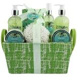 Brubaker Bade- und Dusch Set Weißer Tee und Ingwer Duft 9-teiliges Geschenkset in Henkelbox