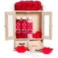 Brubaker Bade- und Pflegeset Cranberry im Holzschrank