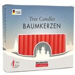 Brubaker 20er Pack Baumkerzen Wachs Weihnachtskerzen Pyramidenkerzen Rot