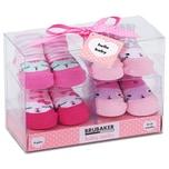 Brubaker 4 Paar Babysocken Mädchen 0-12 Monate Katzen Pink/Rosa