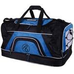 Brubaker Big Base XXL Sporttasche 90 L mit großem Nassfach als Bodenfach und Schuhfach Schwarz Blau