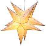 Brubaker 2er Pack LED Falt Weihnachtssterne Fotokarton 60 cm Ø Weiss
