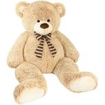 Brubaker Riesiger XXL Teddybär 150cm Beige mit einem I Love You Plüschherz