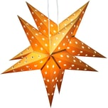 Brubaker 2er Pack LED Falt Weihnachtssterne Fotokarton 60 cm Ø Gold