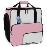 Brubaker Super Function Skischuhtasche Helmtasche Rucksack mit Schuhfach Rosa Weiß