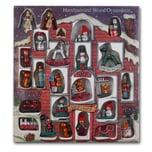 Brubaker 24-tlg. Set Weihnachtsbaumschmuck aus Holz bis zu 7,5 cm große Figuren Handbemalt