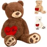 Brubaker XXL Teddybär 100 cm Braun mit einem Best Mum Herz