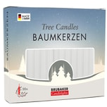 Brubaker 20er Pack Baumkerzen Wachs Weihnachtskerzen Pyramidenkerzen Weiss