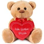 Brubaker Teddy Plüschbär mit Herz Rot Ich Liebe Dich 35 cm