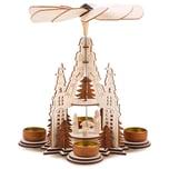 Brubaker 6-TLG. Set Nussknacker Holzanhänger - Baumschmuck - Christbaumschmuck aus Holz