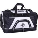 Brubaker Medium Base Sporttasche 52 L mit großem Nassfach als Bodenfach und Schuhfach Schwarz Weiß